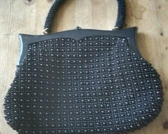 Beautiful True Vintage 1950s Lumure Corde Bead Bag