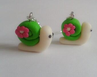 Sweet Snail Earrings. Cute. Kawaii. Sweet Lolita. Brand New. Handmade.