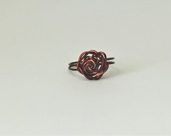 Wrapped Rose Ring - Custom Size