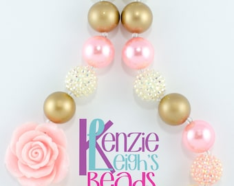 Peachy Rose Chunky Necklace - Child Size