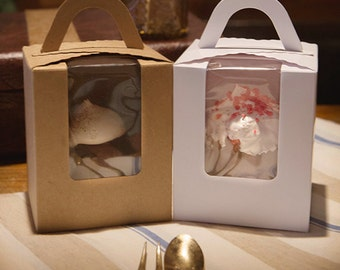 5 single cupcake boxes, cupcake boxes, muffin box, cupcake box for 1, cute cupcake box, cupcake packaging, muffin packaging, cupcake gift