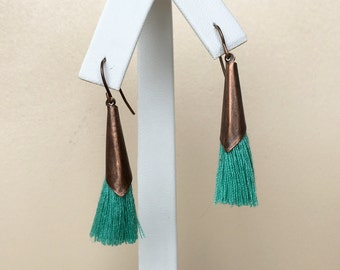 Pick Color/ Antique Copper/ Mini Tassel/ Earring