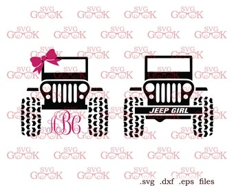 Jeep Girl SVG cut files, Jeep svg cut files for use with Silhouette, Cricut and other Vinyl Cutters, digital cut file
