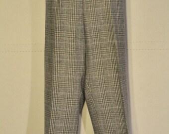 Womens Vintage Plaid Wool Pants
