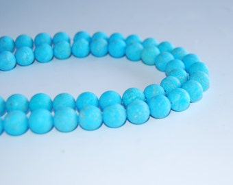 Matte Synthetic Turquoise Loose Beads 6/8/10mm