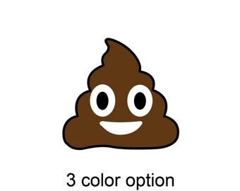 Poop emoji (3 color diecut indoor/outdoor) vinyl sticker decal!