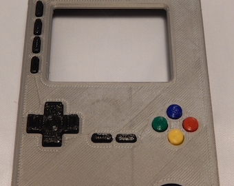 Gray ABS Game Boy Case GameBoy Project Adafruit pigrrl 2 Raspberry Pi 3 Super Nintendo SNES style Action BUTTONS