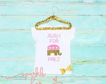 Kids republican shirt -  personalized republican shirt - vote for me shirt - republican tee - republican party tee - republican party shirt