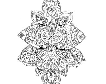 Mandala Pattern Print - Watercolour Painting