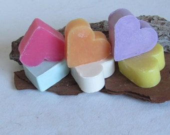 Sachet with 2 mini heart soaps assortment scent