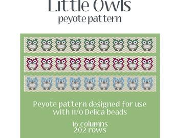 Little Owls Bracelet Peyote Pattern