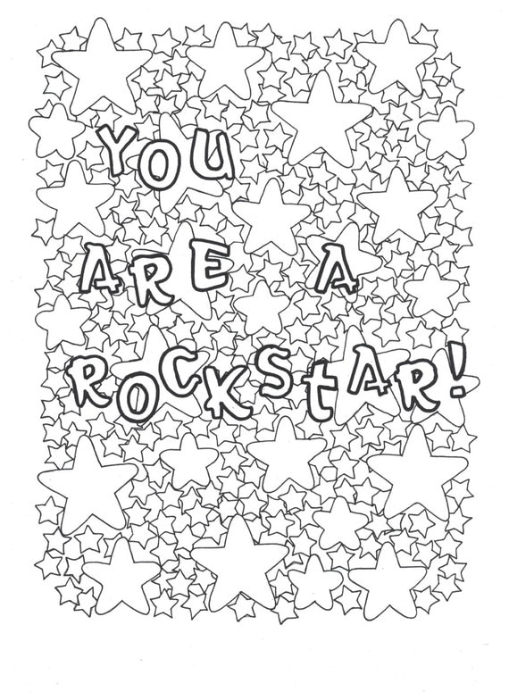 You Are A Rockstar Coloring Page