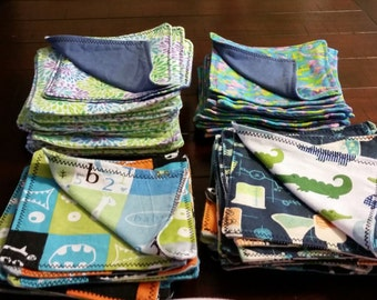 Flannel Cloth Wipes 8x8