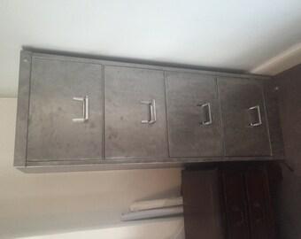 Vintage Bisley Filing Cabinet  (stripped)
