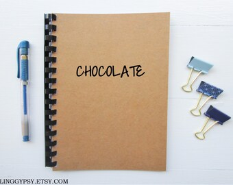JOURNALING GYPSY- CHOCOLATE- One Word Art- Thought- Journal