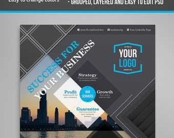 Marketing Business Flyer PSD Template