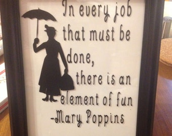 Mary Poppins 8x10 frame