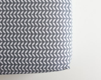Fitted Crib Sheet - Ready to Ship - Toddler Sheet - Grey Stems