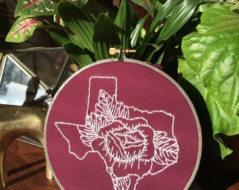 Deep in the Heart hand embroidery