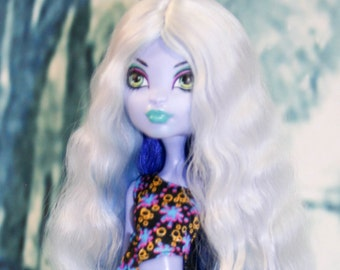 """Gorgeous triple colour angora goat wig  for Monster High doll or other doll with 4-5"""" head"""