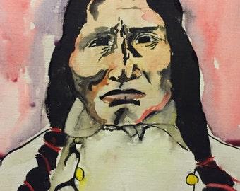 Lakota, original watercolor