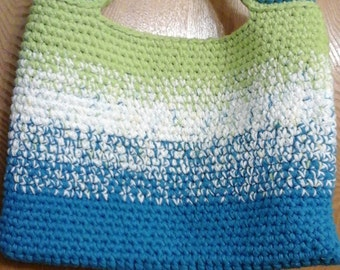 ombre crocheted tote