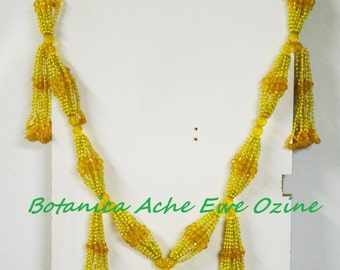 ON SALE! Ochun Collar Mazo, Orisha Oshun