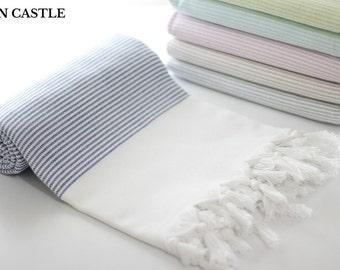 Midilli   Turkish Bath Towel   Navy   Turkish Towel   Peshtemal Towel   Beach Towel   Bathroom   Cotton   Peshtemal   Highly Absorbent