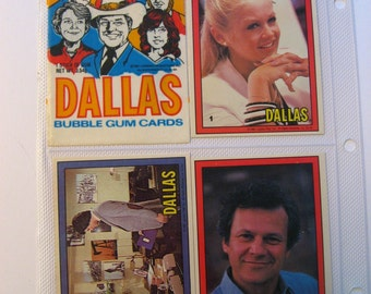 Dallas. 1981 trading cards complete set. Television show collectible vintage toy. JR Ewing Patrick Duffy Larry Hagman. Nostalgic!