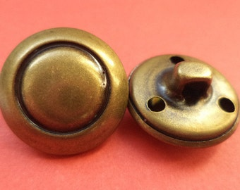 10 metal KNOBS bronze 19 mm metal buttons (1644)