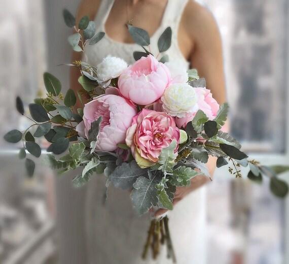 Items Similar To Wedding Bouquet, Pink Peony Bridal