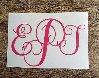 Monogram Initial Decal