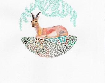 The wise goat - Art Print