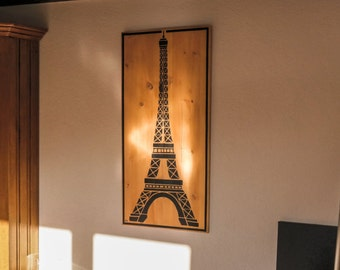 "Painting ""Eiffel tower"" Paris on wood"