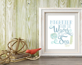 Printable Art, Wall Art, 8x10 Print, Home Decor, Bible Verse Quote, Scripture Quote, Religious Quote