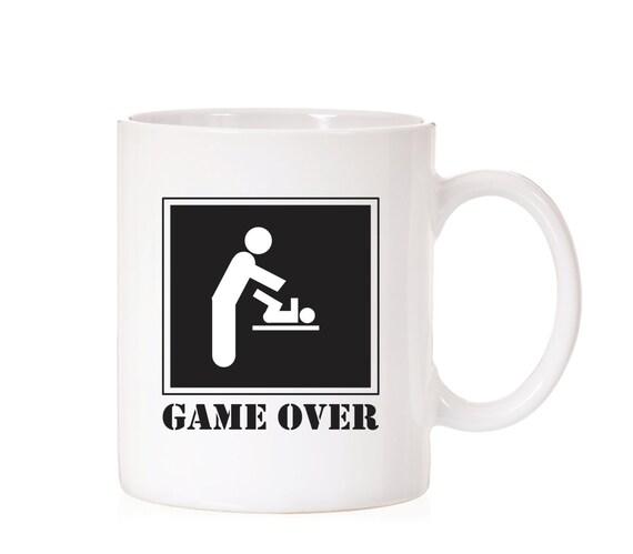 Game Over Mug   New Daddy Gift   New Dad Mug   New Dad Gift   Father Gift   Father Mug   Pregnancy Gift   Announcement Gift   Gift For Dad