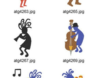 Kokopelli  ( 10 Machine Embroidery Designs from ATW )