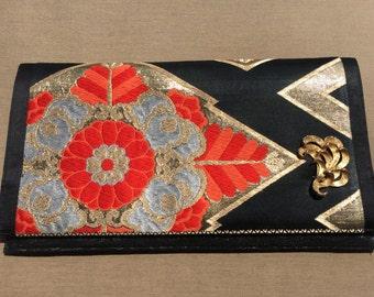 Vintage Kimono Clutch