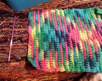 Hand Stitched Washcloth / Dishcloth - Crochet