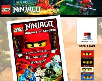 Ninjago Coloring Book with Crayons