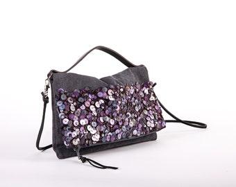 Violet Foldover clutch