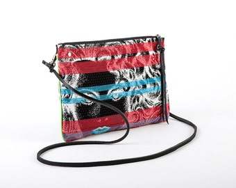 Clutch with removable strap blue Lady