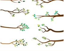 Tree branches clipart, Tree branch clip art, Bare branch clipart, Leaf branch clipart, Tree branch silhouette clipart, Autumn branch clipart