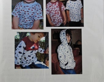 The Charlie Tee and Hoodie Sizes 12 Months to 5T Sewing Pattern / Fishsticks Designs / 2010 / T-shirt / children / children's clothing /