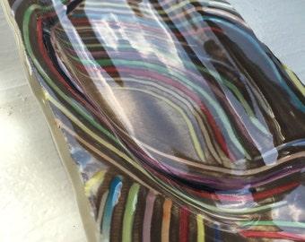 Rainbow serving platter