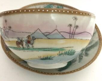 Cup and Saucer - Camel Scene Vintage