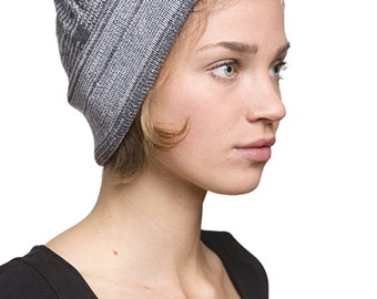 TEW - Cap made from recycled yarn - grey