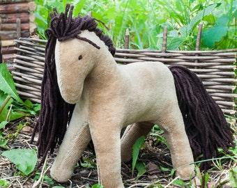 Felt horse, felt horse pattern, waldorf horse, toy horse, stuffed horse, horse toy, waldorf toy, wool felt horse,Plush Horse, soft toy horse