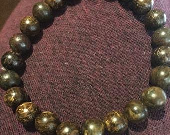 beaded bronzite bracelet