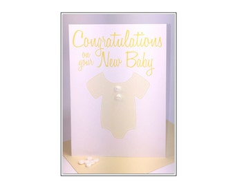 Congratulations on your New Baby Greeting Card - Pram #LCO-161